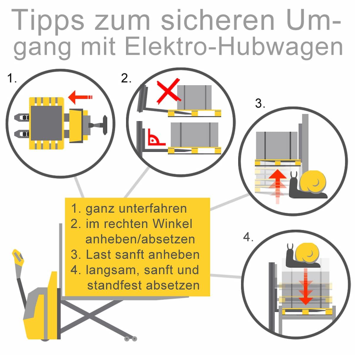 Tipps zum sicheren Umgang mit Elektro-Hubwagen