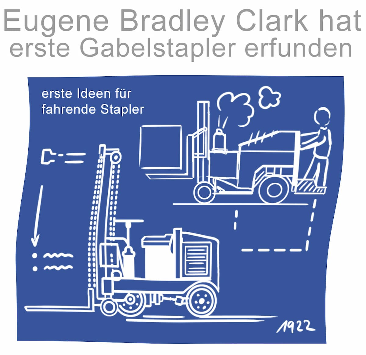 Eugen Bradley Clark gilt als Erfinder des Gabelstaplers