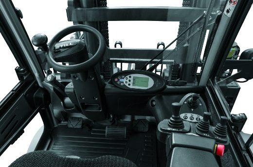 Fahrerkabine mit Lenkrad