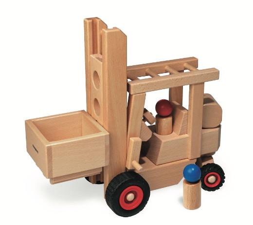 Holzspielzeug Gabelstapler © fagus