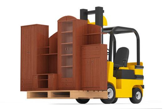 Gabelstapler transportiert Möbel © doomu, fotolia.com