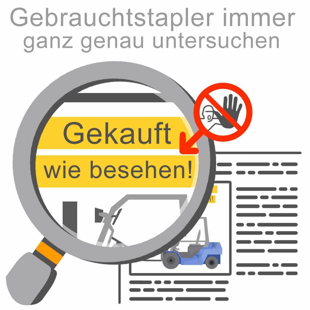 Wichtig: Gebrauchtstapler immer genau prüfen