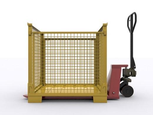 Gitterbox mit Hubwagen © Torsten, fotolia.com