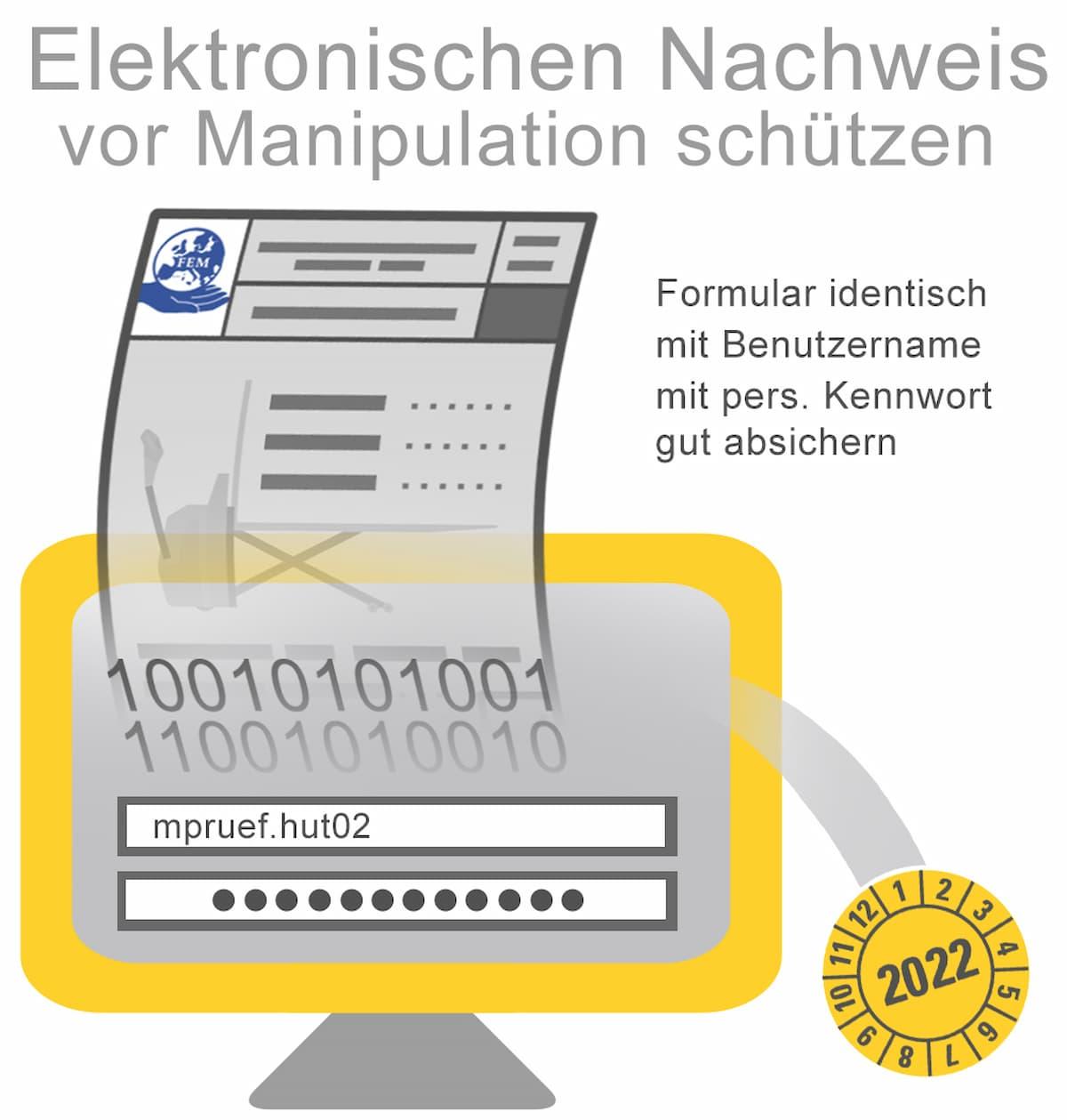 Elektrische Nachweise müssen vor Manipulation geschützt werden