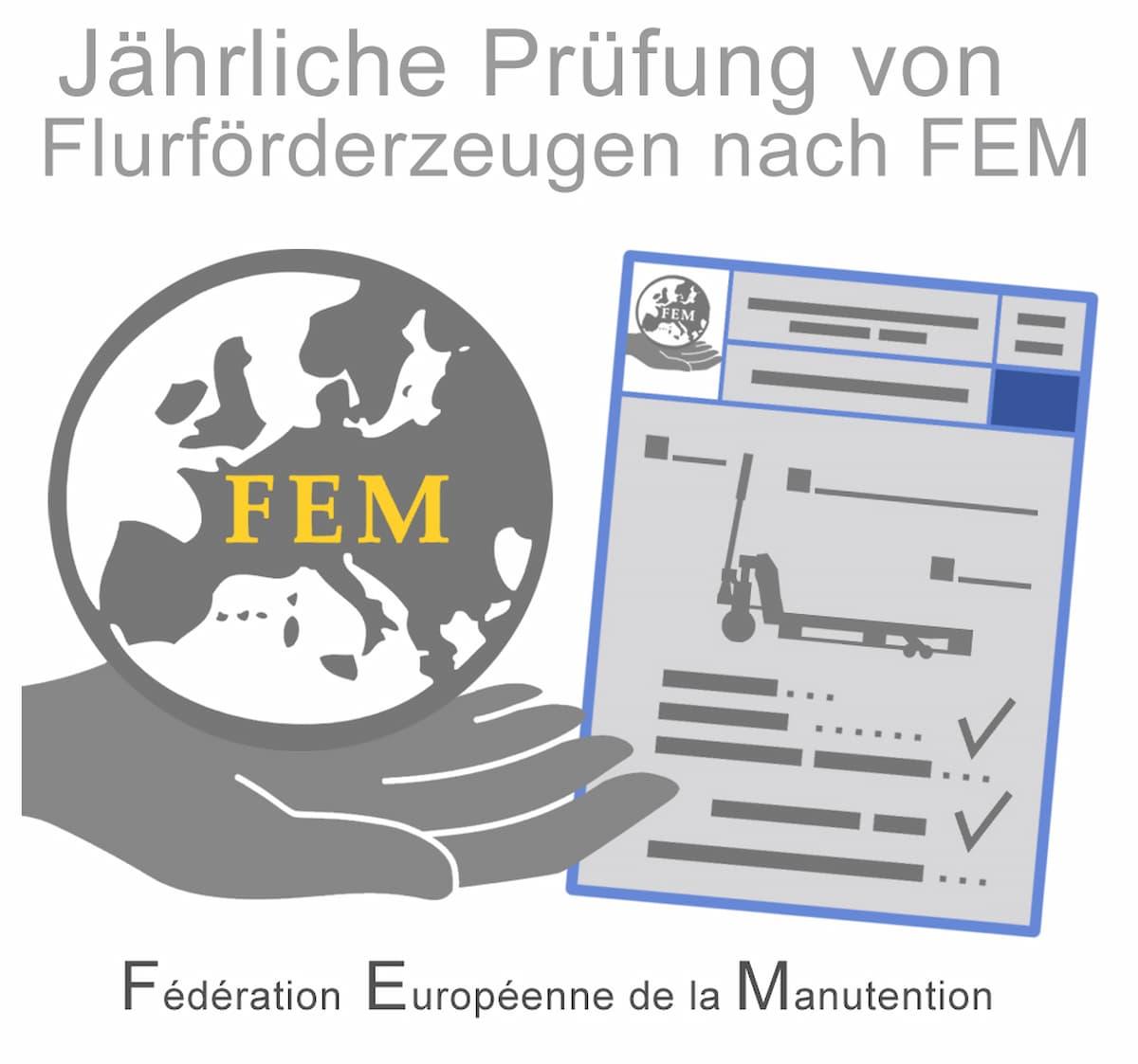 Jährliche Prüfung von Flurförderzeugen nach FEM