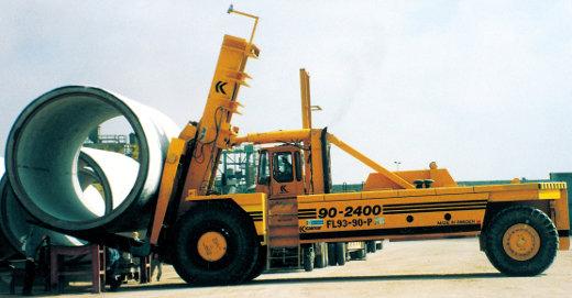 Kalmar Schwerlaststapler mit Tragfähigkeit bis zu 90 Tonnen aus dem Jahr 1991 © Kalmar