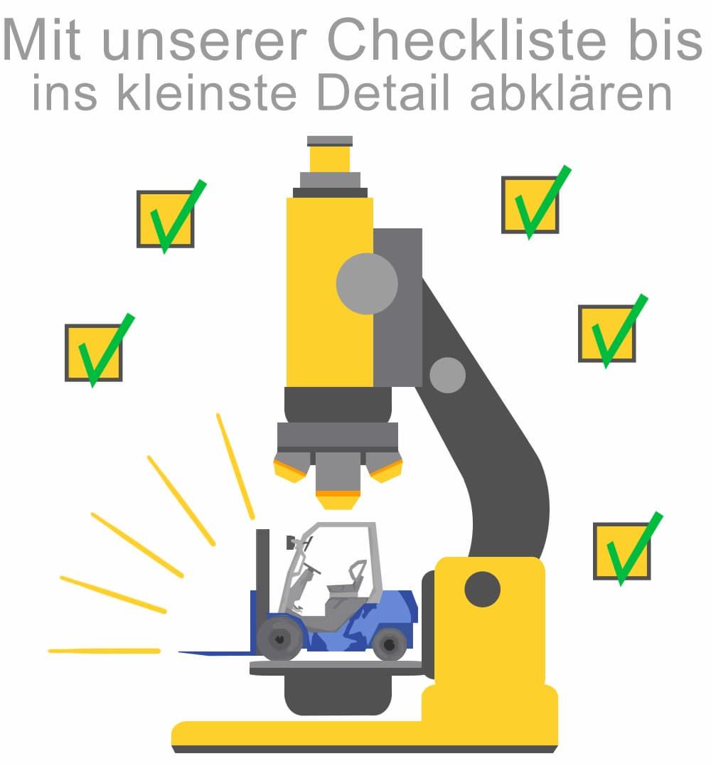 Mit unserer Checkliste finden Sie den richtigen Gebrauchtstapler