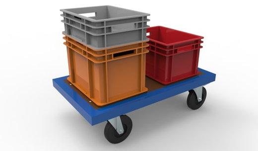 Kleinladungsträger auf einem Plattformwagen © pavlodargmxnet,  fotolia.com