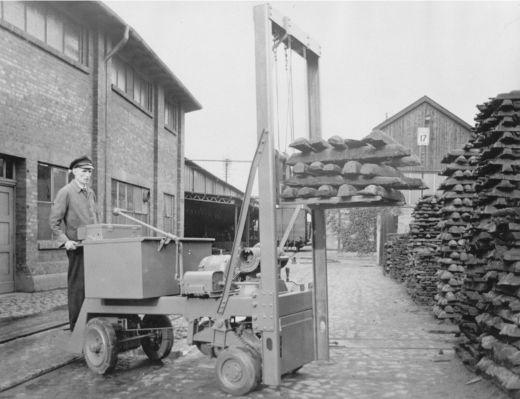 MIAG-Historie Zinkenhochhubwagen aus dem Jahr 1927 © MIAG