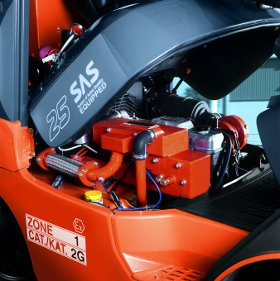 Motorraum Gabelstapler