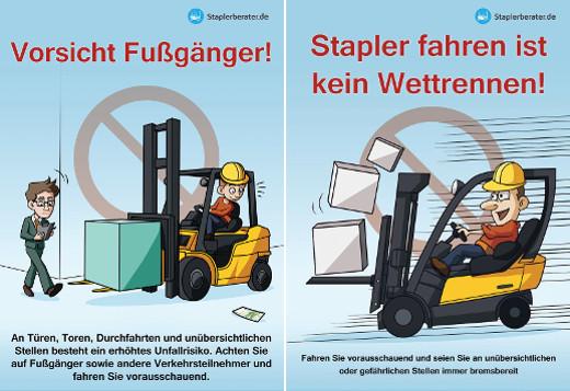 Illustrationen Staplersicher fahren