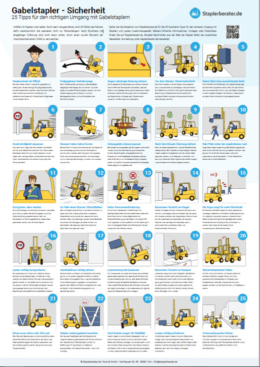 Poster Gabelstapler sicher fahren © staplerberater.de