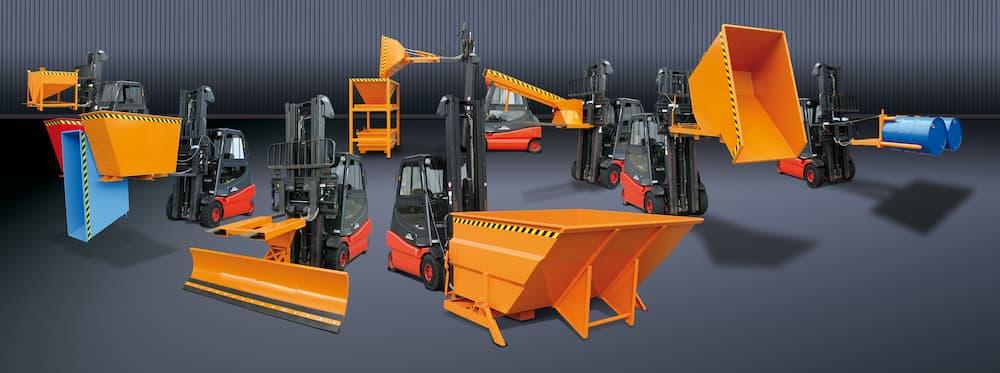 Auswahl an Stapler Anbaugeräter von Eichinger Industrie © Eichinger Industrie GmbH