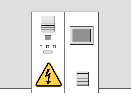 Vorsicht beim Arbeiten nahe oder an elektrischen Leitungen und Anlagen