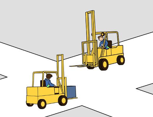 Besondere Vorsicht an Kreuzungen und bei Gegenverkehr