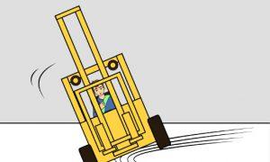 Dynamische Kräfte beim Staplerfahren