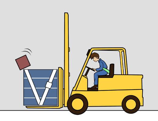 Vorsicht: Last rutscht