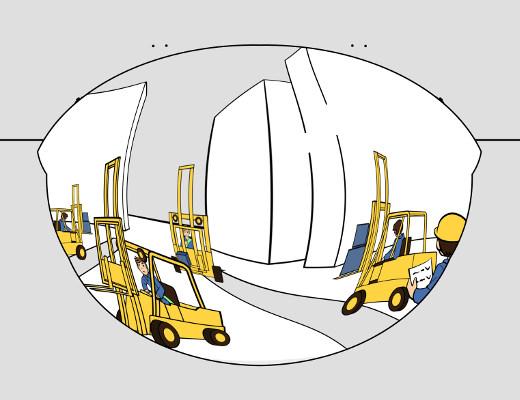 Panoramaspiegel an unübersichtlichen Stellen verwenden