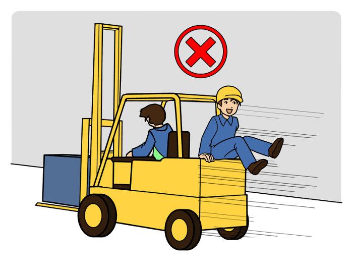 Ein Stapler dient nicht der Personenbeförderung