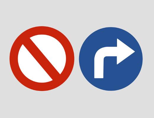 Verkehrzeichen beachten