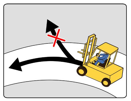 Stapler dürfen nur auf freigegebenen Verkehrswegen fahren