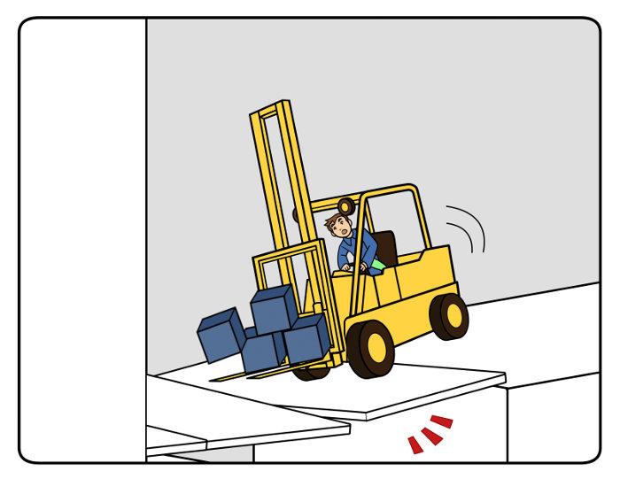 Besondere Vorsicht an Rampen