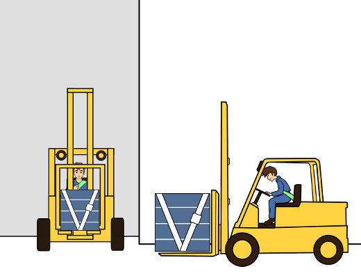 Besondere Vorsicht bei Kreuzungen