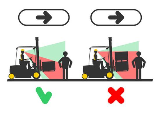 Sichtbarkeit von Personen bei transportierten Lasten © norsob, fotolia.com