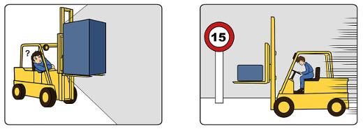 Gabelstapler sich fahren: Illustrationen