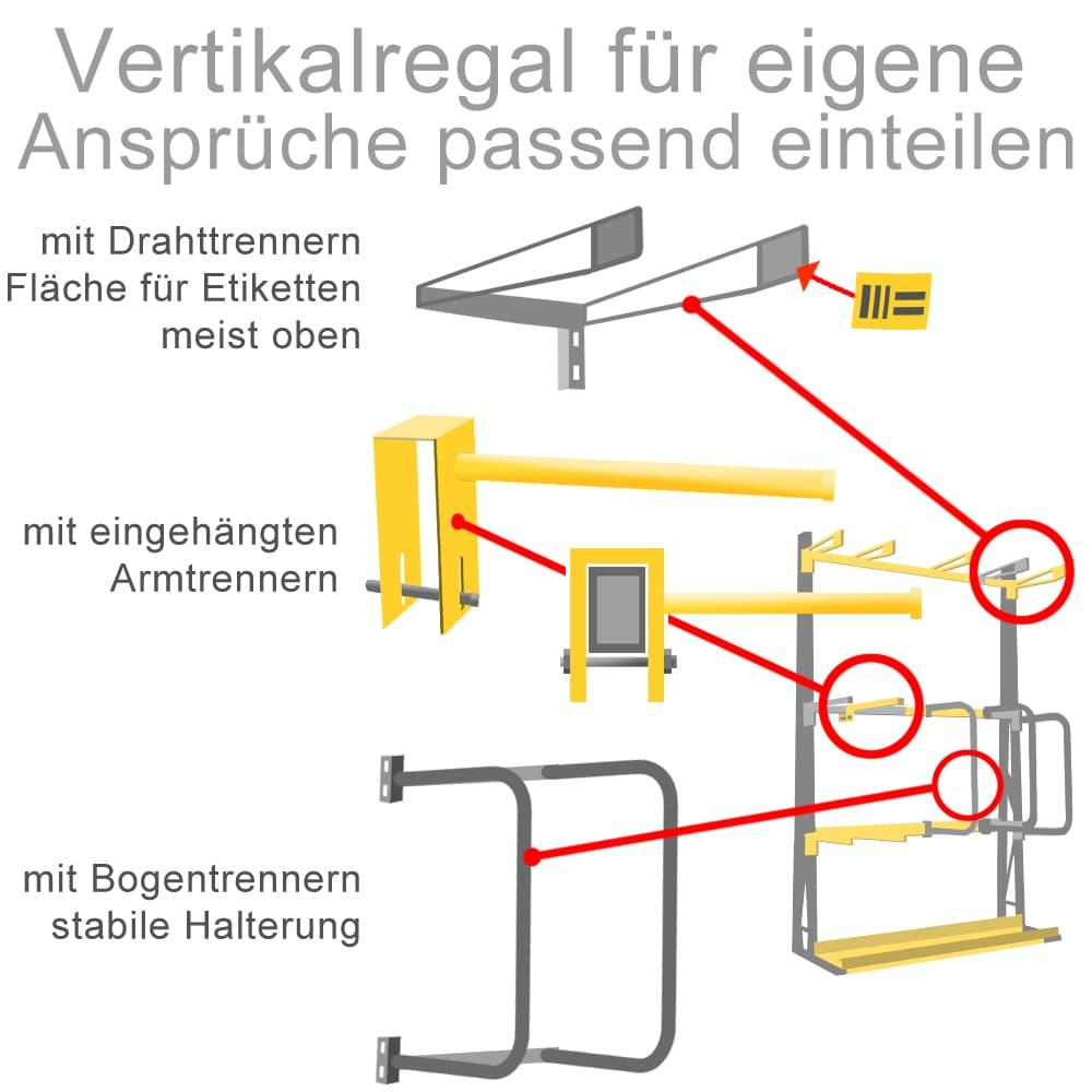 Vertikalregale können den eigenen Ansrüchen angepasst werden